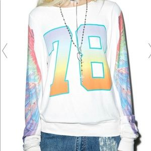 NWOT Wildfox Angel Wing 78 BBJ Sweatshirt Small